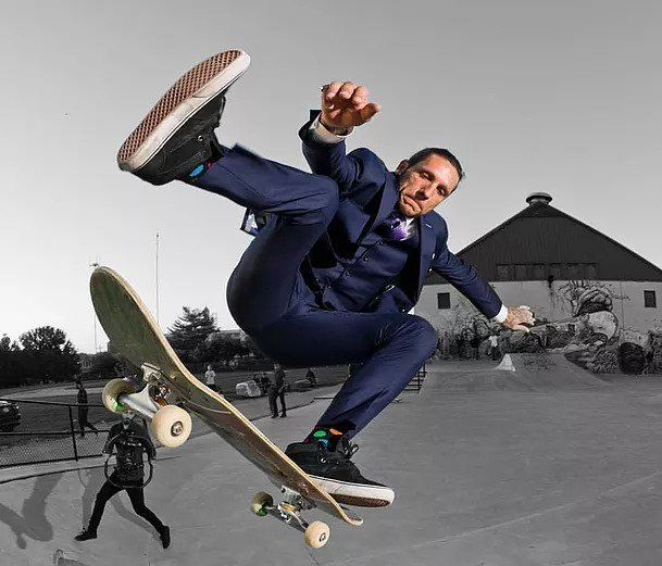 Brandon Novak Suit Skateboarding
