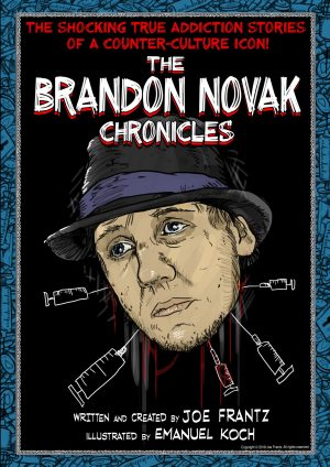 Brandon Novak Chronicles book with drawing on the cover