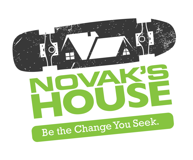 novak's house black and green logo